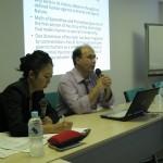 2011年9月15日ドミニク・レステル氏ワークショップ:ドミニク・レステル氏と通訳者